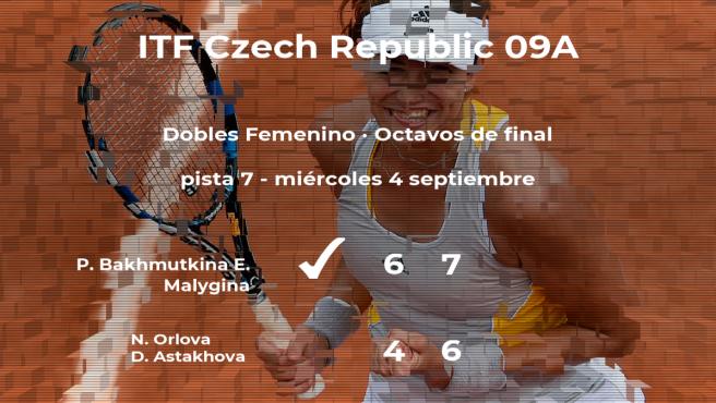 Victoria de las tenistas Bakhmutkina y Malygina en los octavos de final del torneo de Praga