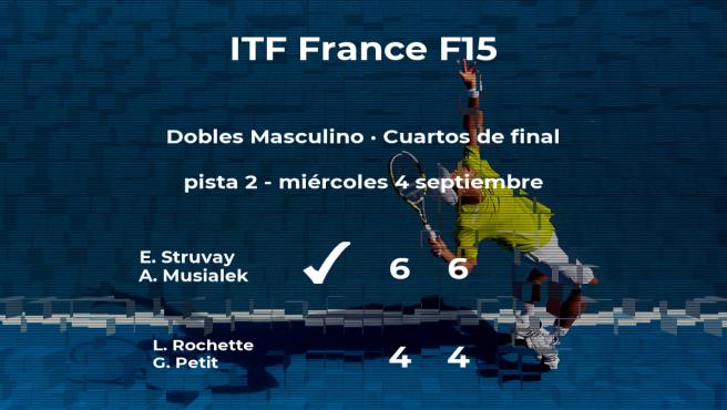 Struvay y Musialek le arrebatan la plaza de las semifinales a Rochette y Petit