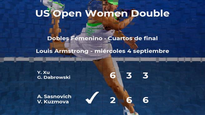 Las tenistas Sasnovich y Kuzmova se hacen con la plaza de las semifinales a costa de Xu y Dabrowski