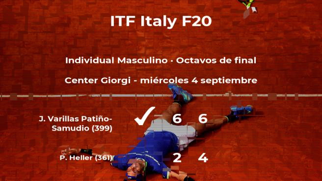 El tenista Juan Pablo Varillas Patiño-Samudio, clasificado para los cuartos de final del torneo de Trieste