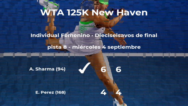 Astra Sharma estará en los octavos de final del torneo de New Haven