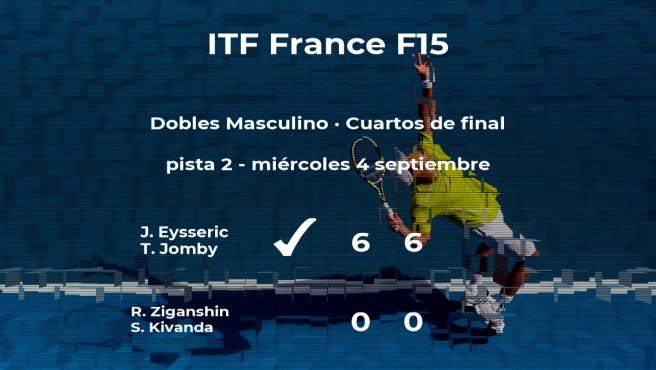 Eysseric y Jomby consiguen la plaza de las semifinales a costa de Ziganshin y Kivanda