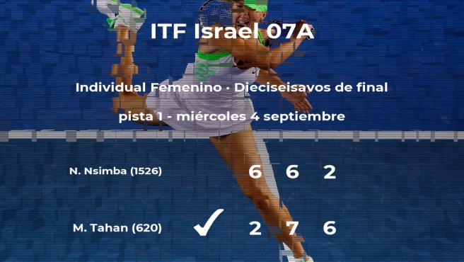 La tenista Maya Tahan consigue la plaza de los octavos de final a costa de Noelly Longi Nsimba