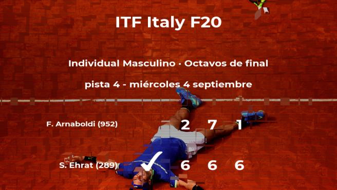 El tenista Sandro Ehrat estará en los cuartos de final del torneo de Trieste