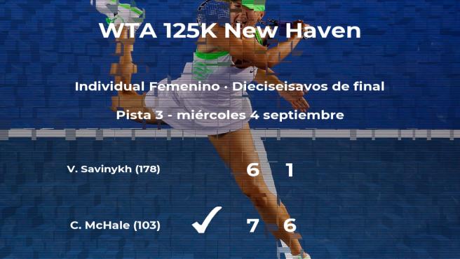 La tenista Christina McHale se clasifica para los octavos de final del torneo de New Haven