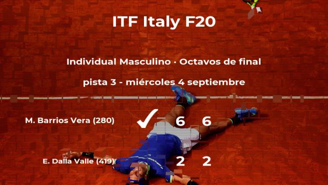 Marcelo Tomas Barrios Vera estará en los cuartos de final del torneo de Trieste