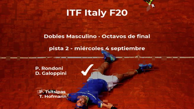 Rondoni y Galoppini ganaron a los tenistas Tsitsipas y Hofmann y estarán en los cuartos de final del torneo de Trieste