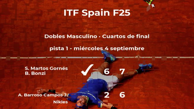 Los tenistas Martos Gornés y Bonzi consiguen la plaza de las semifinales a costa de Barroso Campos y Nikles
