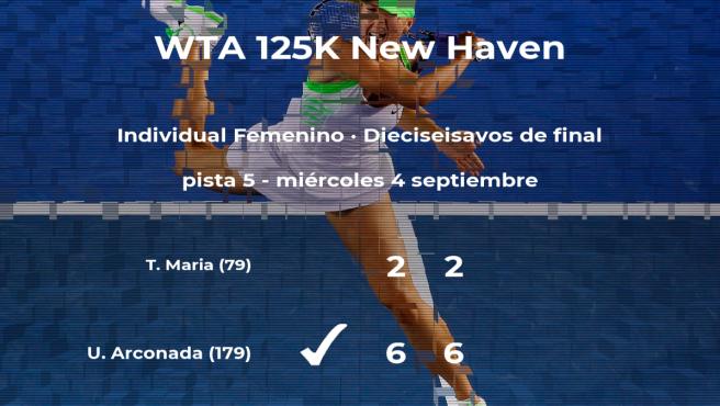 La tenista Usue Maitane Arconada pasa a la siguiente fase del torneo de New Haven tras vencer en los dieciseisavos de final