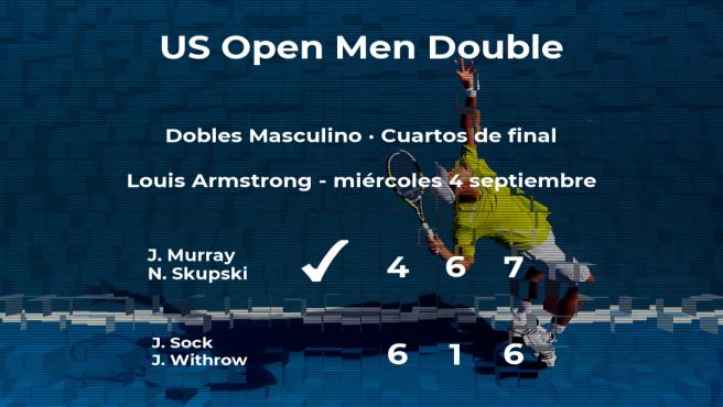 Los tenistas Murray y Skupski estarán en las semifinales del US Open
