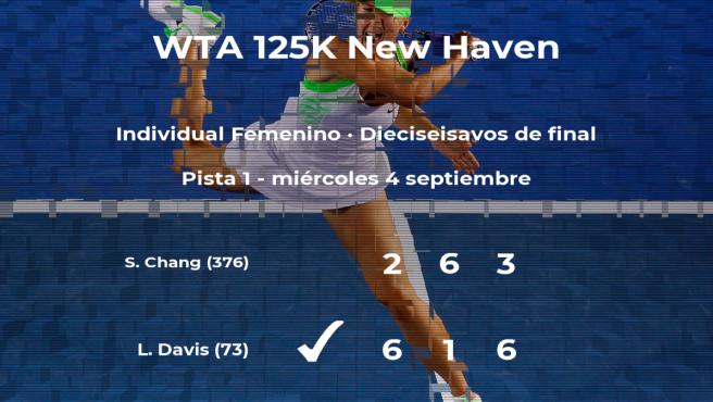 La tenista Lauren Davis, clasificada para los octavos de final del torneo de New Haven