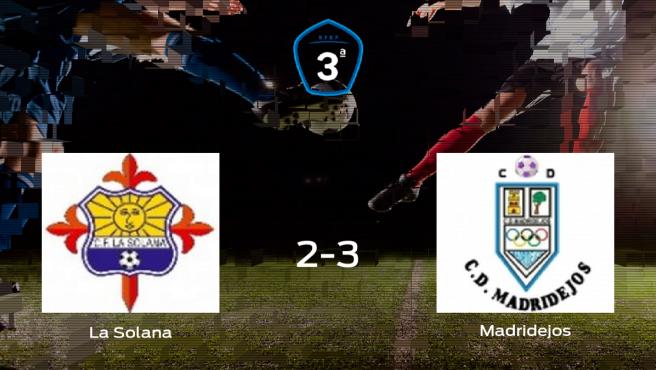 El Madridejos se lleva tres puntos tras derrotar 2-3 a La Solana