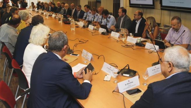 La primera mesa de trabajo del Plan Estratégico Barcelona Ciudad Segura.