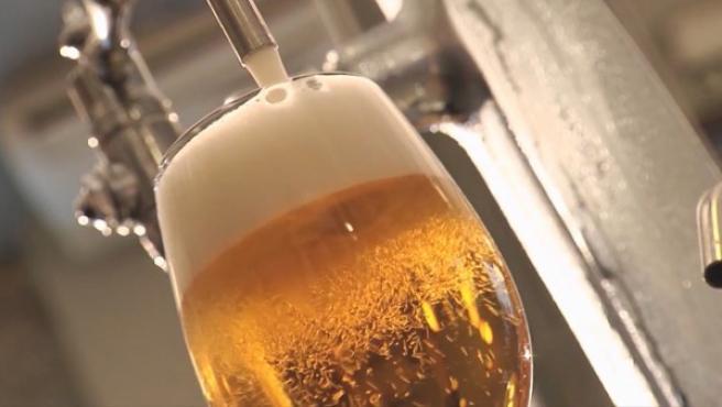 Imagen de una copa de cerveza.