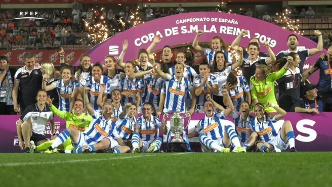 La final de la Copa de la Reina entre Atlético y Real Sociedad batió el récord de audiencia de un partido femenino en España.