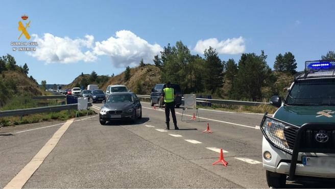 Control de tráfico en la carretera