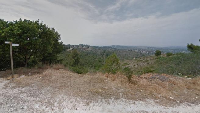 Imagen del terreno cercano a la casa de la joven desaparecida en Calicanto.