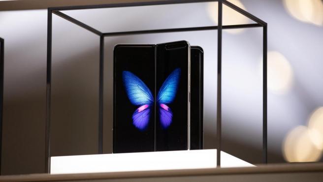 El móvil plegable de Samgung, el Galaxy Fold, es presentado en la feria tecnología IFA de Berlín (Alemania).