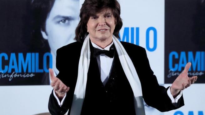 Camilo Sesto, en noviembre de 2018, durante la presentación de su nuevo álbum 'Camilo Sinfónico'.