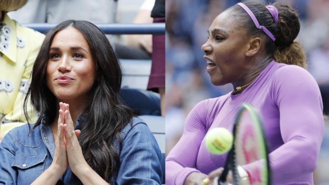 Meghan Markle y Serena Williams, en un montaje de fotografías de este sábado en Nueva York.