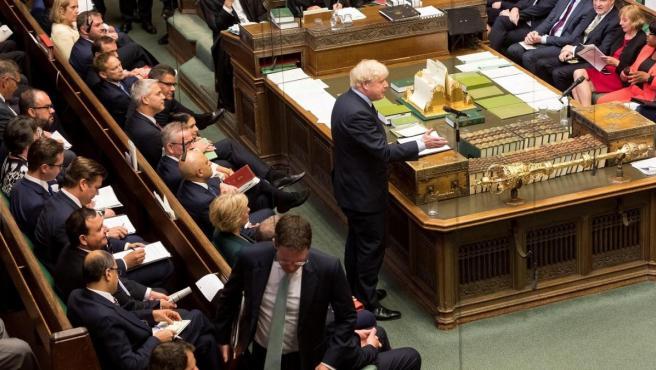 Sesión en el Parlamento Británico.