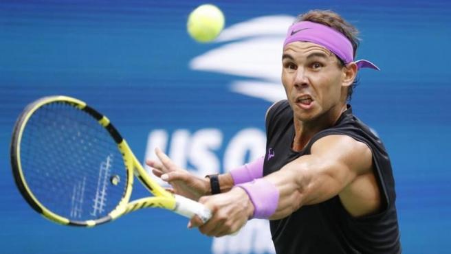 Rafael Nadal, durante la final del US Open frente al ruso Daniil Medvedev, en Flushing Meadows, Nueva York.