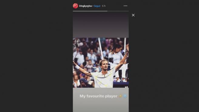 Story en Instagram de Nick Kyrgios durante la final del US Open entre Nadal y Medvedev.