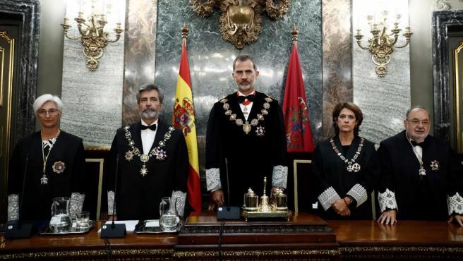 El rey Felipe preside la apertura del año judicial.