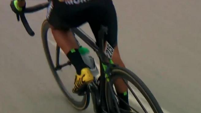 La imagen captada por la retransmisión de la decimosexta etapa de La Vuelta.