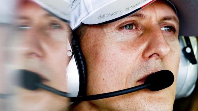 Michael Schumacher, en el circuito Albert Park durante un GP de Melbourne.