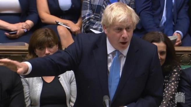 El primer ministro británico, Boris Johnson, en el Parlamento del Reino Unido.