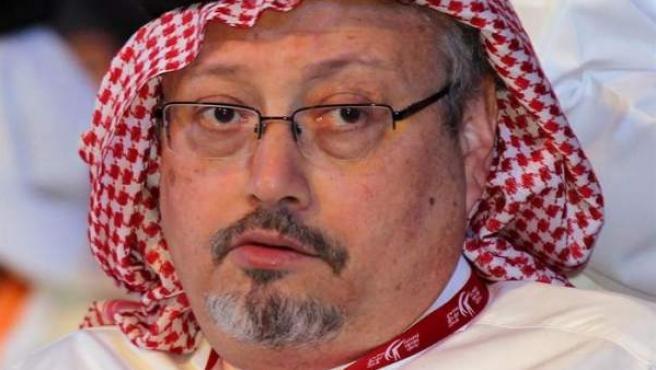El periodista y columnista saudí Jamal Khashoggi, en Dubai (Emiratos Árabes Unidos), en 2012.