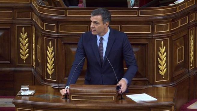 """Sánchez dice que el déficit está """"controlado"""" en el 2%"""