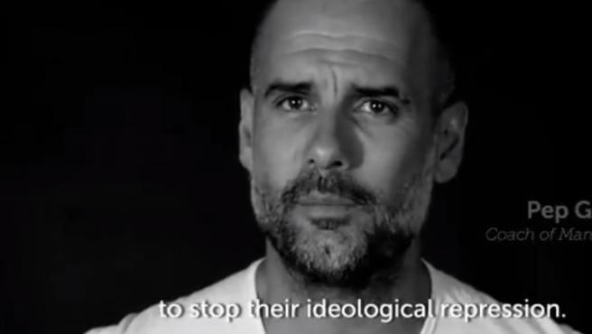 Pep Guardiola, en el vídeo de Jordi Cuixart