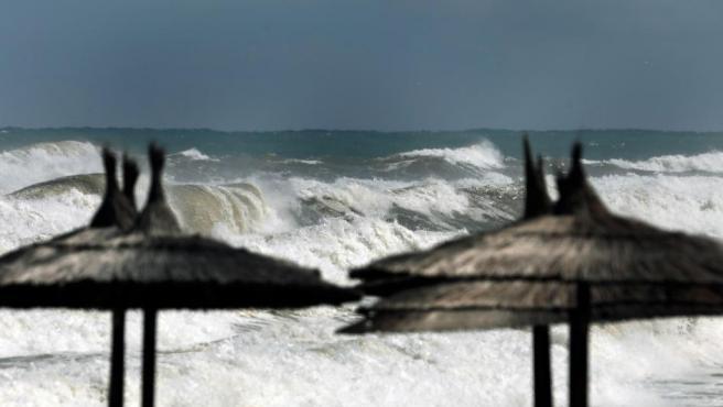Estado del mar en la localidad alicantina de Denia, antes de la llegada de la DANA.