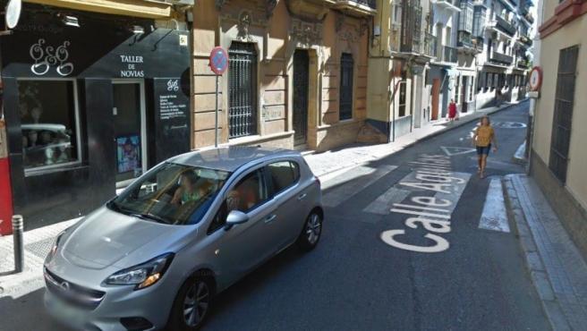 Imagen de la calle Águilas, en el centro de Sevilla.