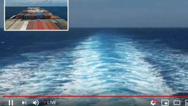 Imágenes del barco de Ikea en 'streaming'.