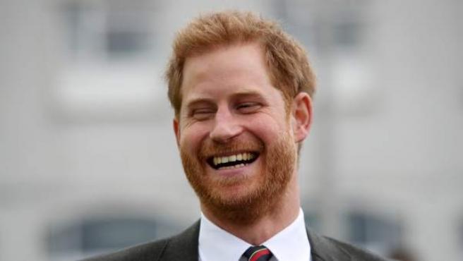 El príncipe Harry, que ostenta el título de duque de Sussex, durante un evento oficial.