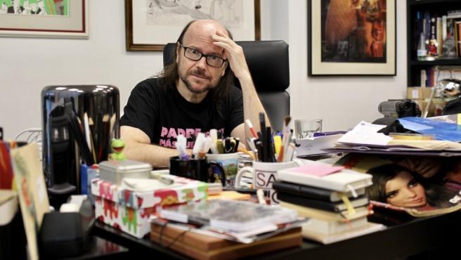 El director y actor Santiago Segura, en su despacho de la productora Amiguetes Entertaiment.