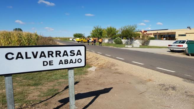 Residencia en Calvarrasa de Abajo donde vivía la mujer desaparecida.