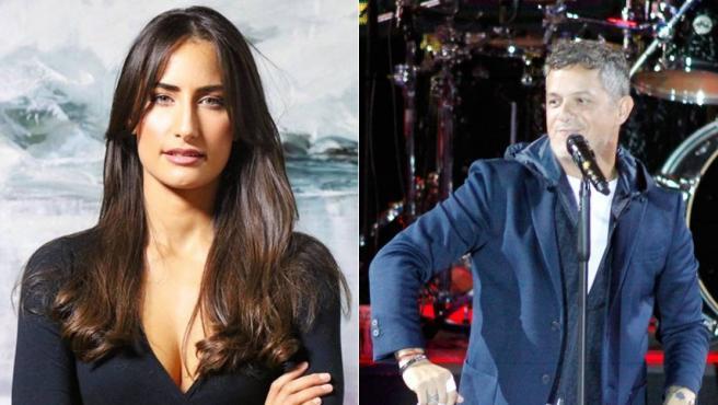 La artista cubana Rachel Valdés y el cantante Alejandro Sanz.