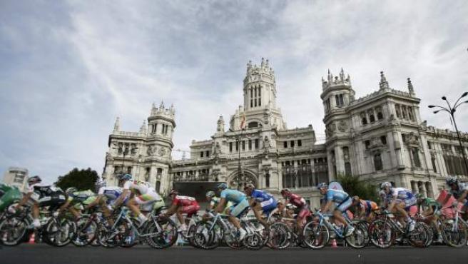 Imagen de archivo de la Vuelta Ciclista a España a su paso por Madrid.
