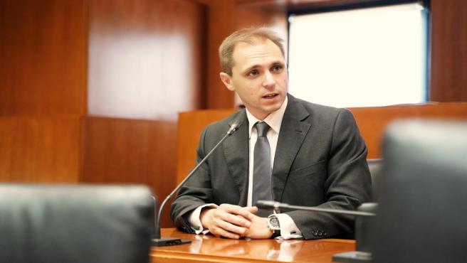 El portavoz de Educación de Cs, Carlos Trullén.