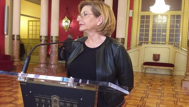La presidenta del PP, Misericordia Sugranyes, en el Parlament.