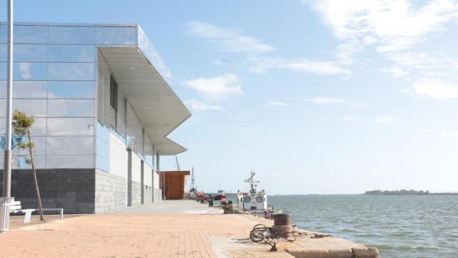 Zona de la nueva lonja. Muelle de Levante de Huelva.