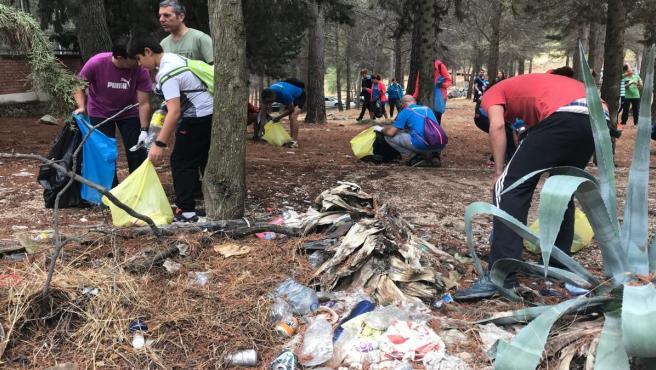 Jornada de limpieza en el parque de Santa Catalina y El Neveral