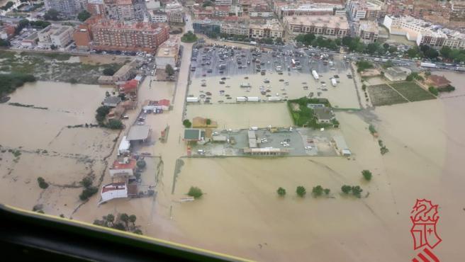 Inundaciones en Orihuela durante el temporal de septiembre de 2019