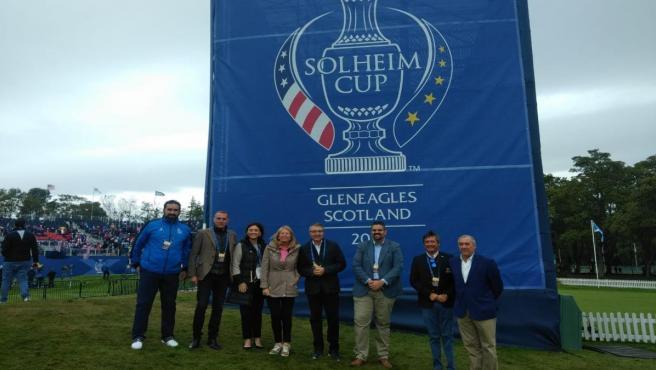 Solheim Cup en Escocia donde la Costa del Sol ha presentado su apuesta por esta competición de golf femenino para albergarla en 2023