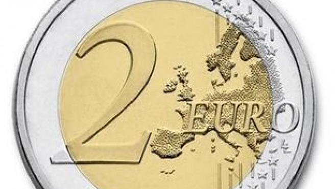 Imagen de una moneda de 2 euros.
