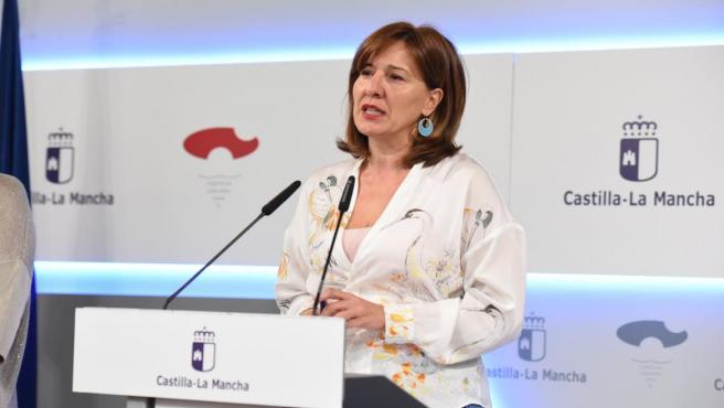 La portavoz del Gobierno de C-LM, Blanca Fernández